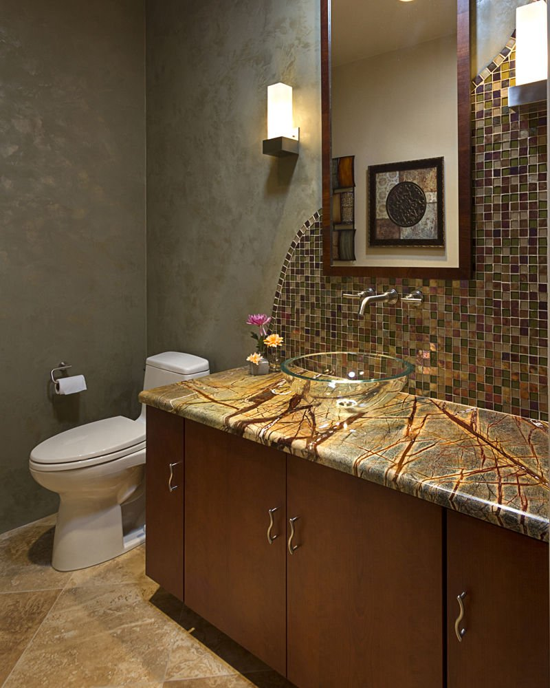 Polished Powder Rooms Stylish choices for small