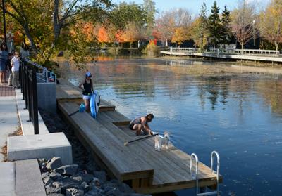 Kayak Dock, Fairport Bicentennial Canal Gateway