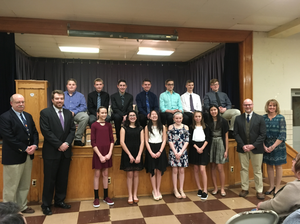 St. Joseph School's NJHS Induction Ceremony