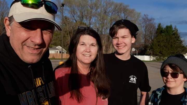 John Skiptunas with his family
