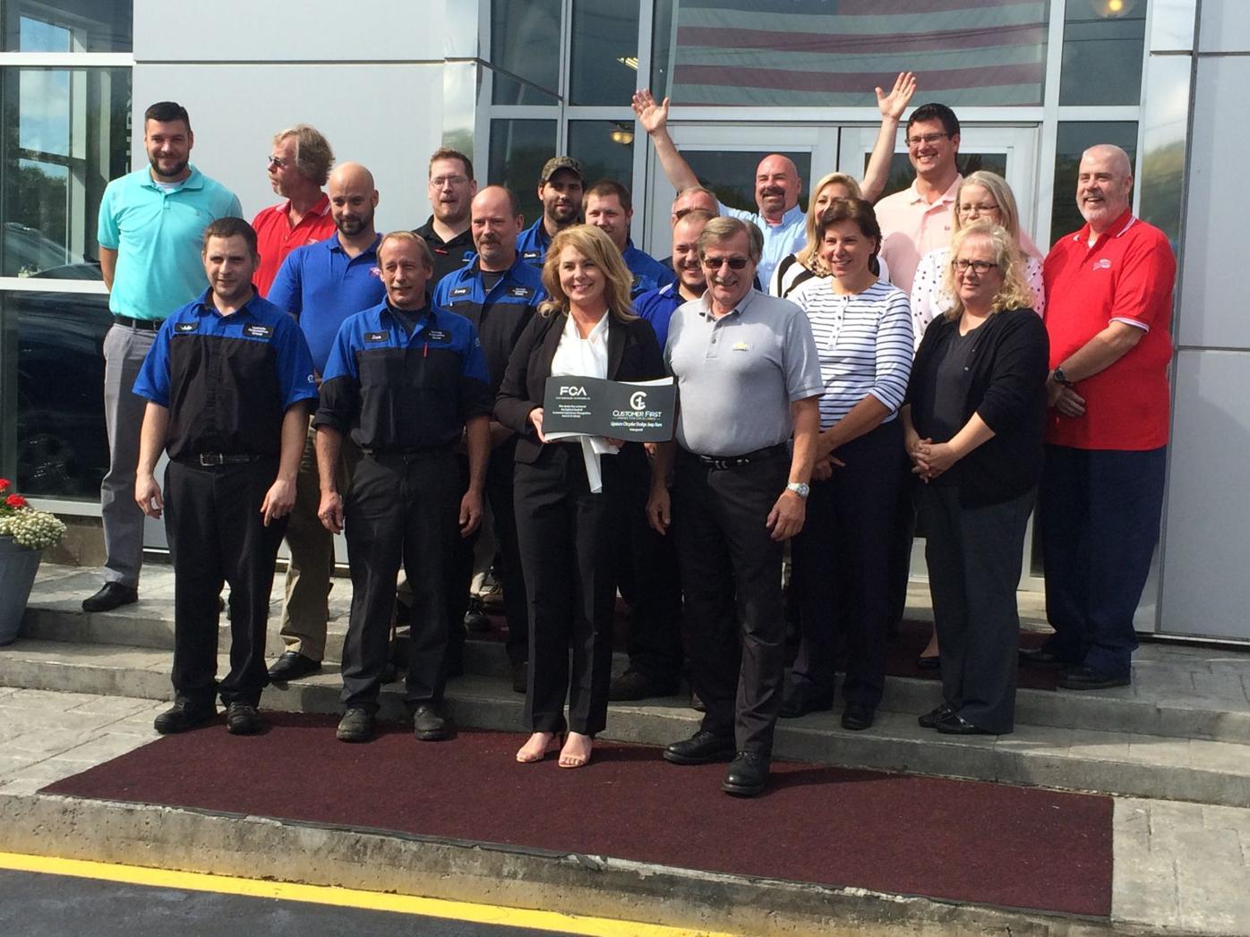 Upstate Chrysler of Attica Wins Customer Service Award