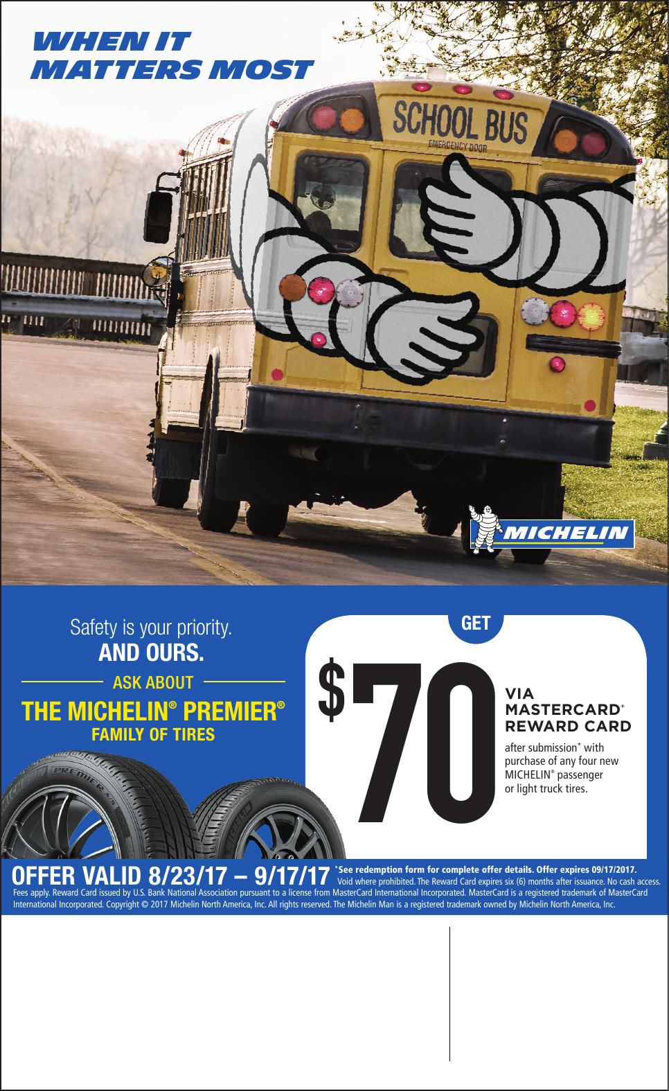 Michelin Tire Dealers to Advertise 2017 Fall Rebate Promotion ...