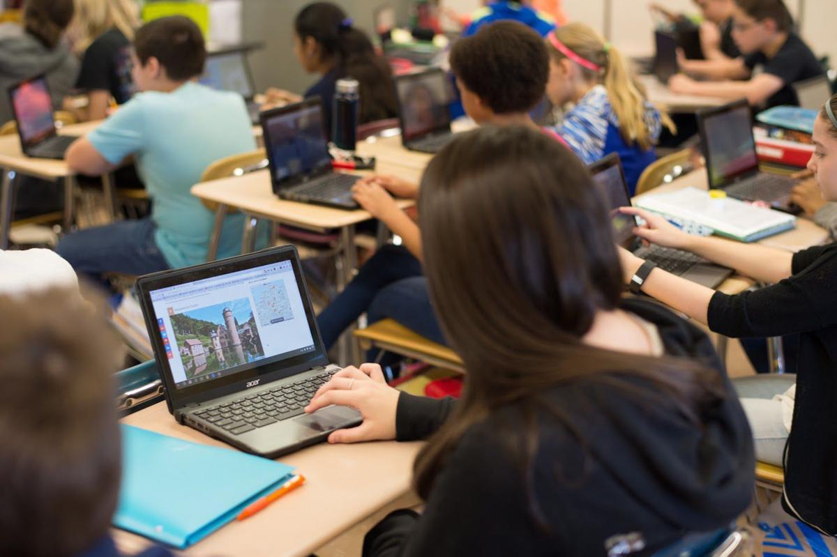 Class using Chromebooks