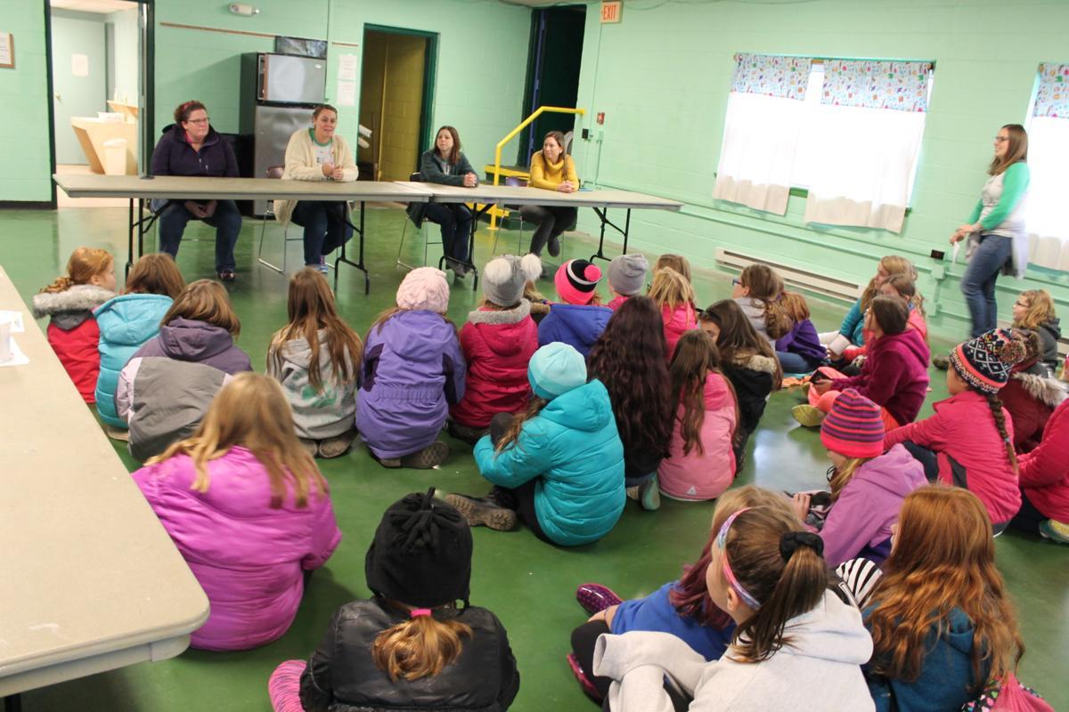 Girls had a Q&A session with Registered Nurse Jan Considine, Lifeguard Jodi Byerts, Pediatrician Joanne Cordaro, and Pharmacist Nicole Siwik.JPG