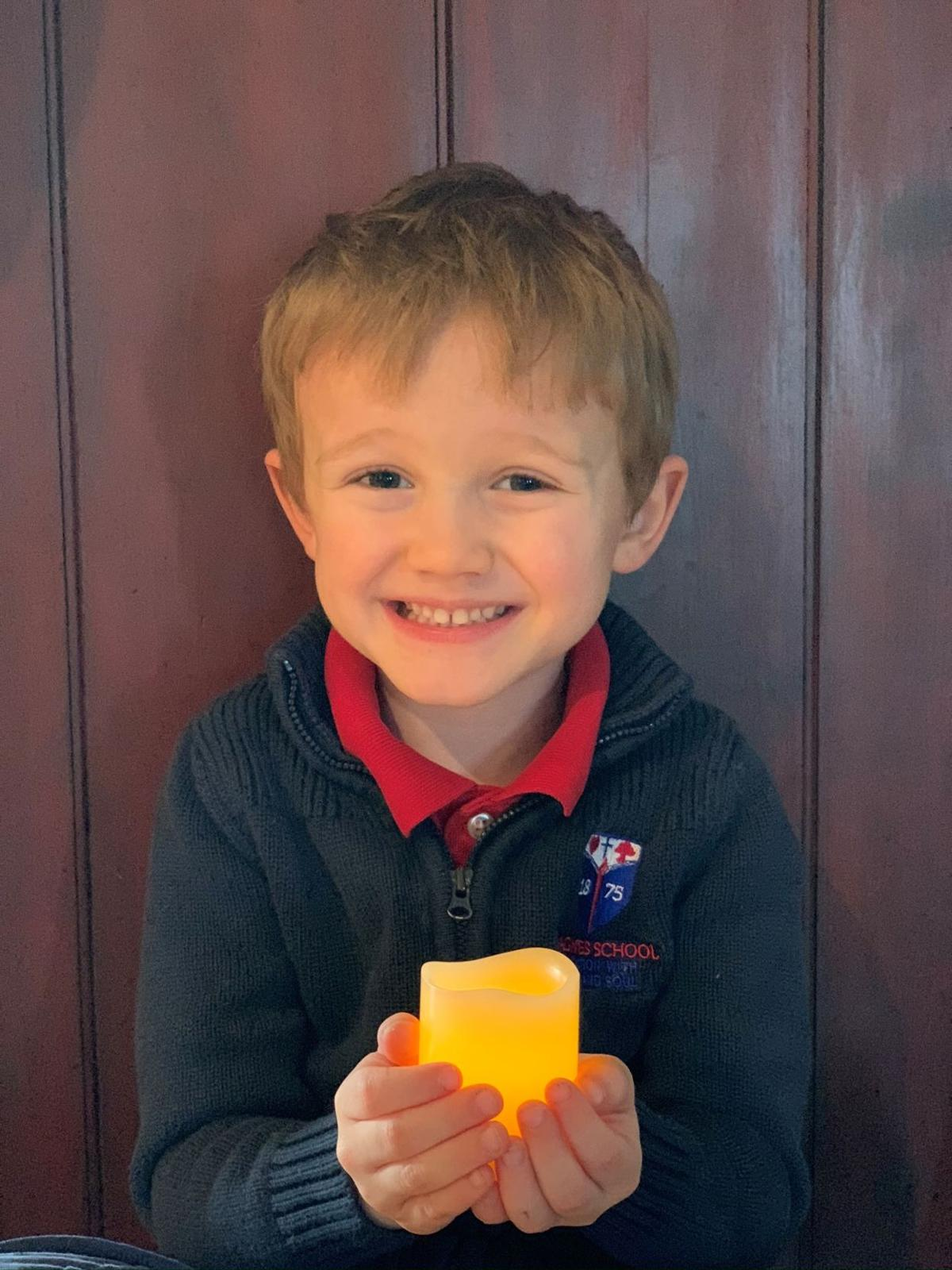 St. Agnes School student, Cole, encourages others to be a light in the dark.