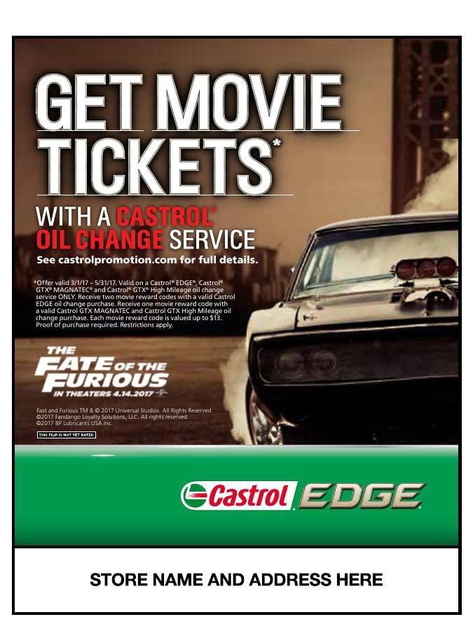 castrol motor oil quotfurious ticketsquot consumer promotion