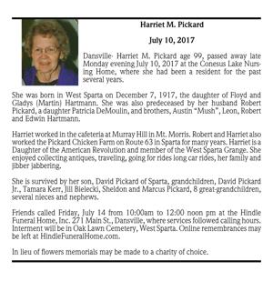 Harriet M. Pickard ~ July 10, 2017