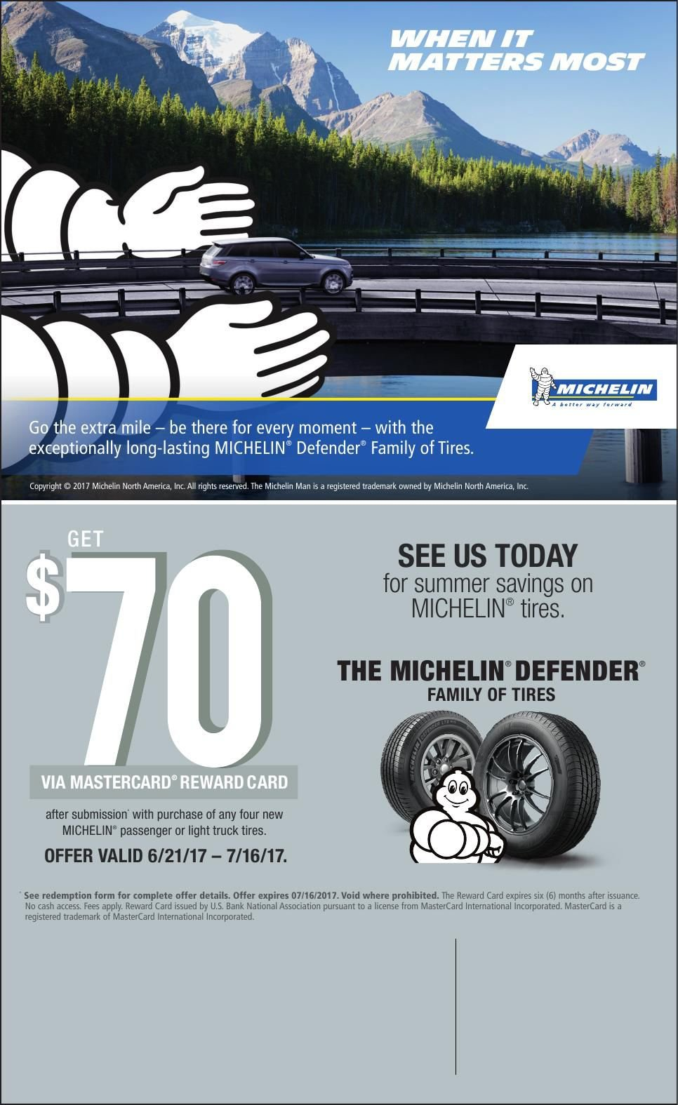 Michelin Tire Dealers to Advertise 2017 Summer Rebate | Advertise ...