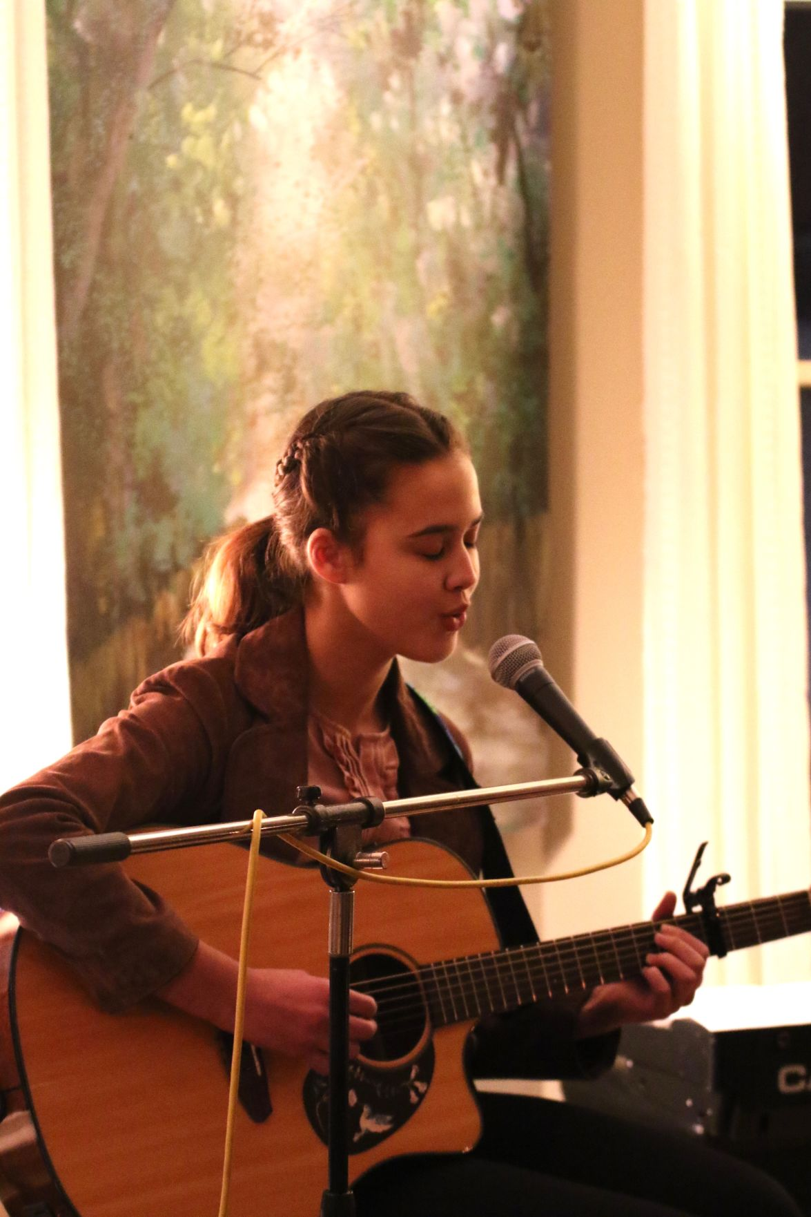 Karla van Aardt - RAMP (Rochester Area Music Project) coffeehouse performance photo
