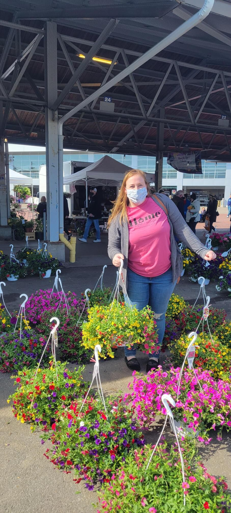 Spending the morning at Flower days at the Rochester Public Market!