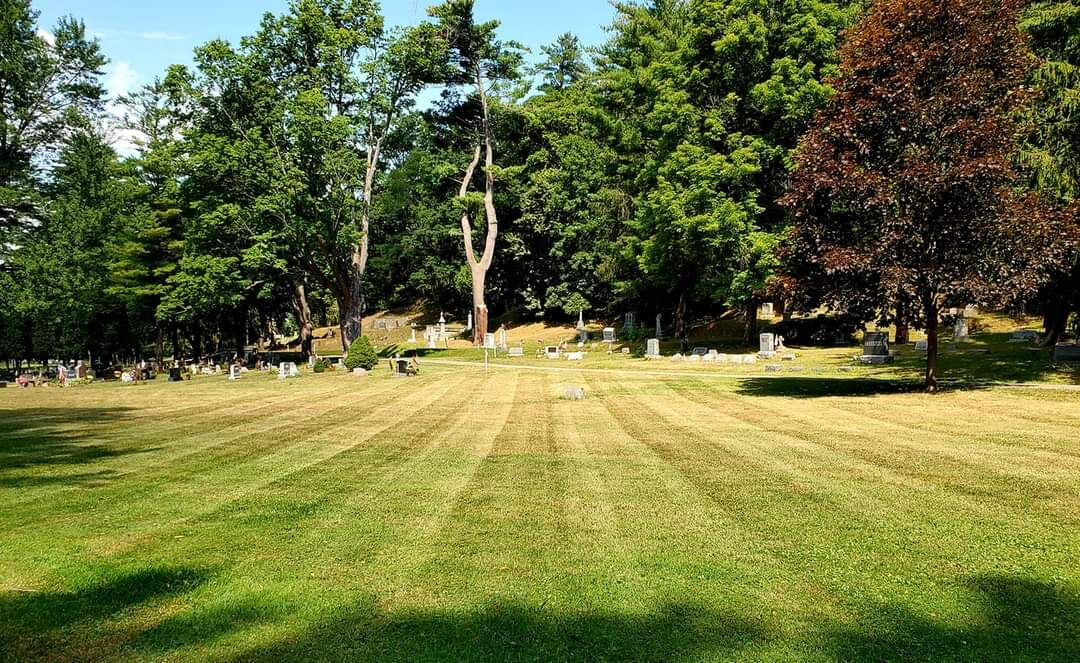 Greenmount Cemetery once again has neatly mowed lawns  thanks to People of Action!