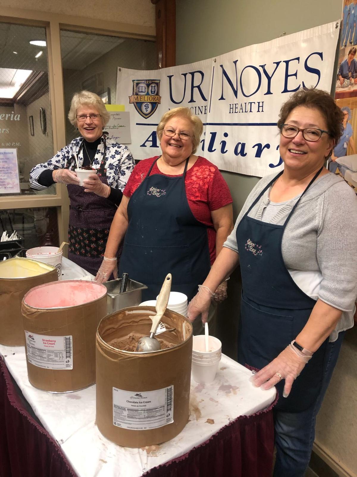 Scooping ice cream for National Hospital Week and National Nurses Week!