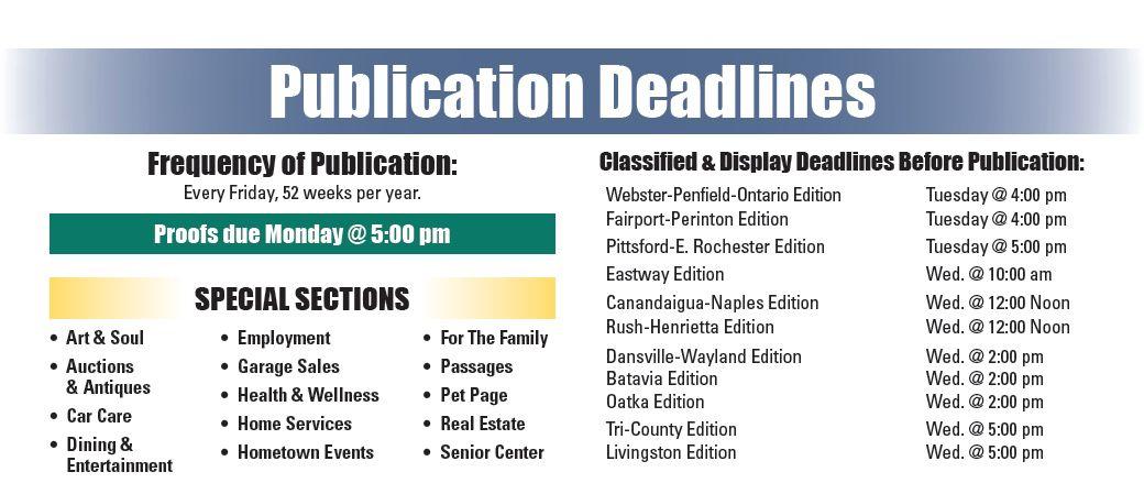 GVPS Editions & Deadlines