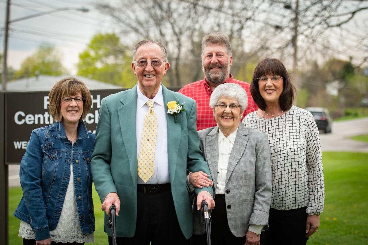 (back) Jack's son, John Gaffney; (front, l-r) daughter, Paula Harvey; Jack Gaffney; Carolyn Gaffney; daughter, Martha Mack