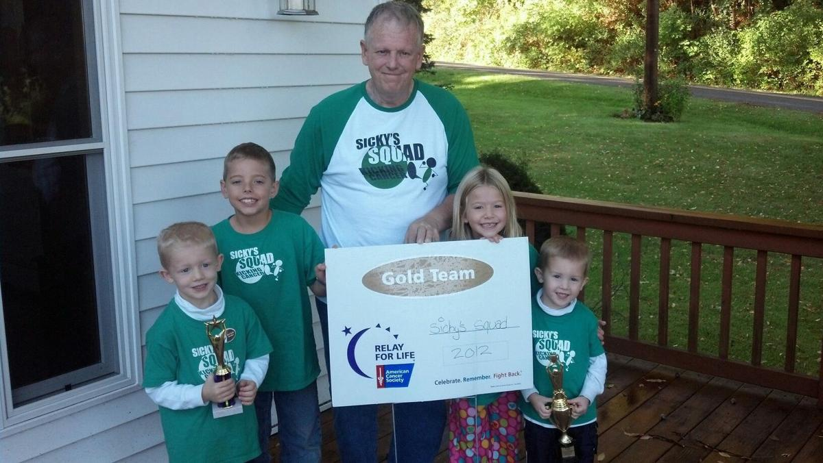 Paul Sick with his Grandkids form Sicky's Squad for their first Relay for Life event!