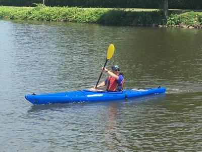 Festival Director, Simon Devenish enjoys kayaking on the Erie Canal in Spencerport
