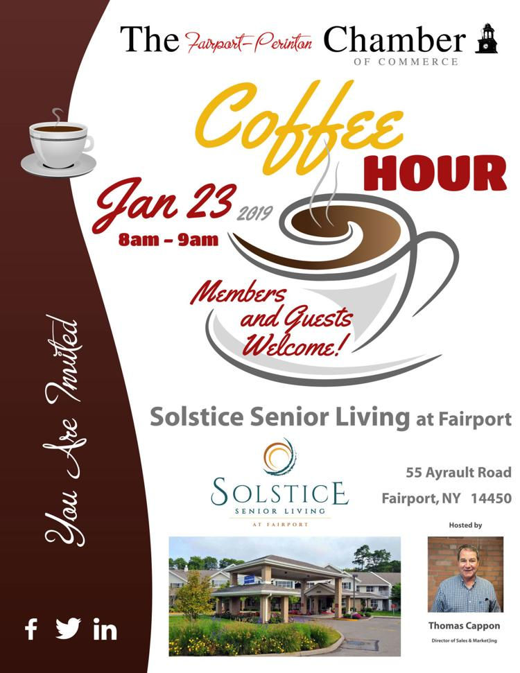 Fairport-Perinton Chamber of Commerce Coffee Hour at Solstice Senior Living