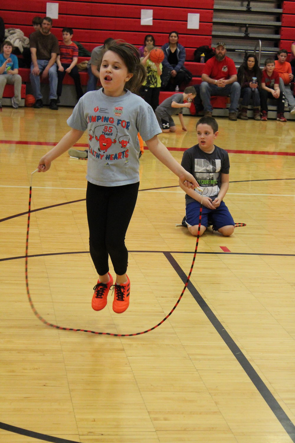 Hoops for Heart event at Holley Elementary