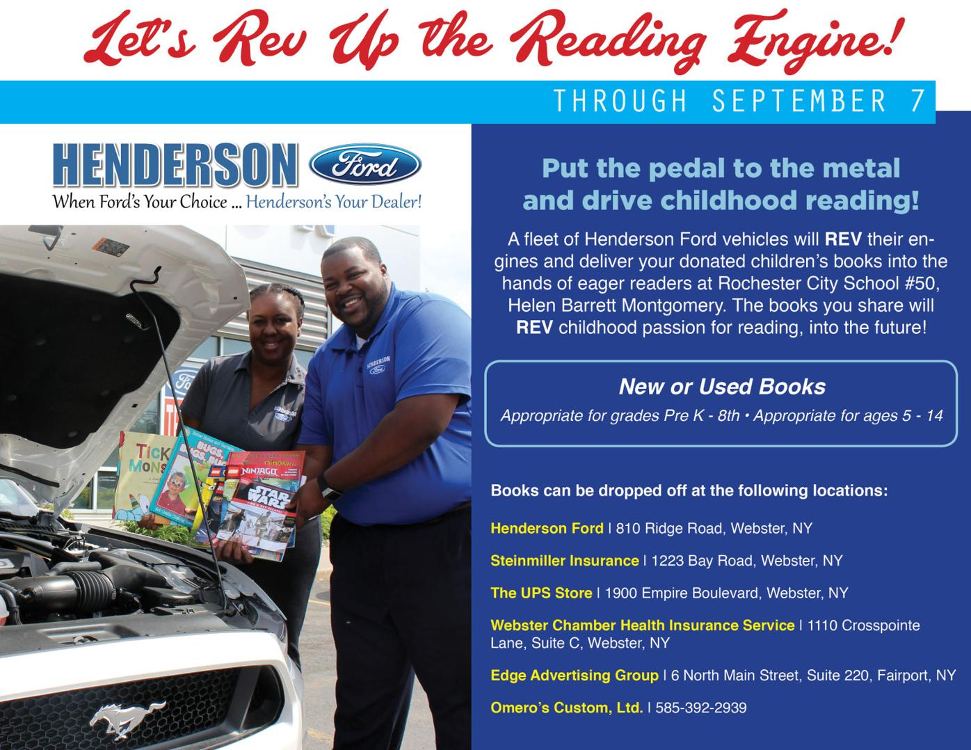 Henderson Ford Book Drive ~ Last Two Weeks!