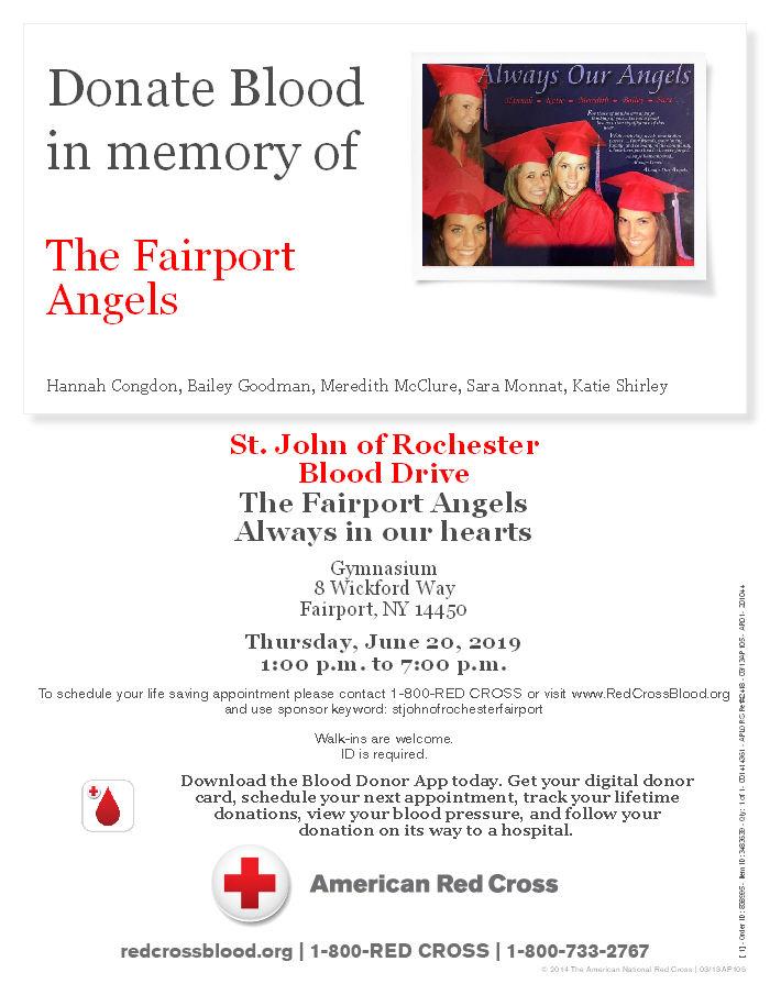 JUNE 20 - FAIRPORT ANGELS BLOOD DRIVE