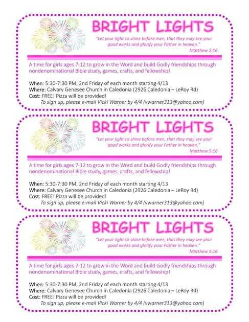 BRIGHT LIGHTS | | gvpennysaver com