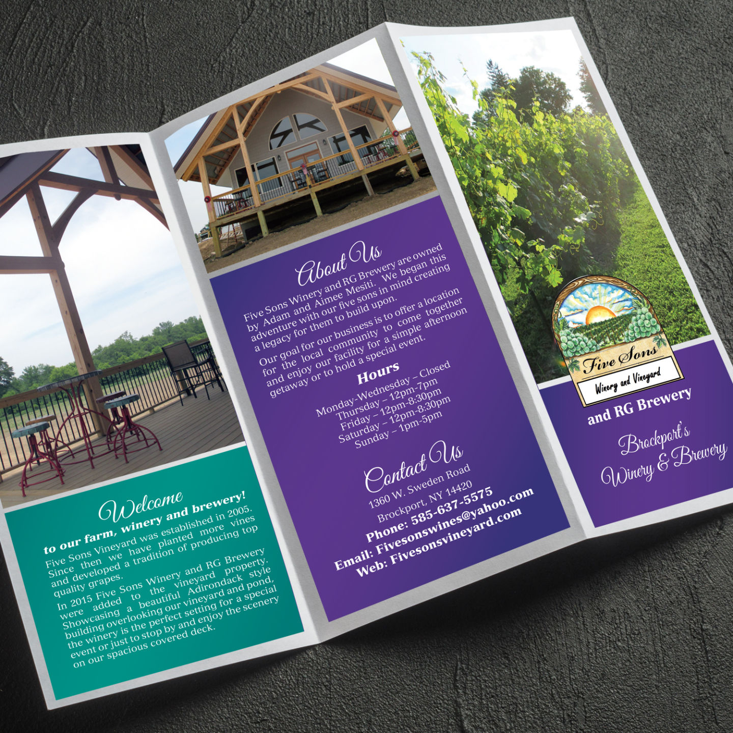 Brochure open from Penny Lane Printing