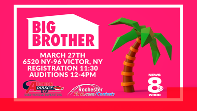 NEWS 8 WROC HOLDING BIG BROTHER AUDITIONS AT AUCTION DIRECT