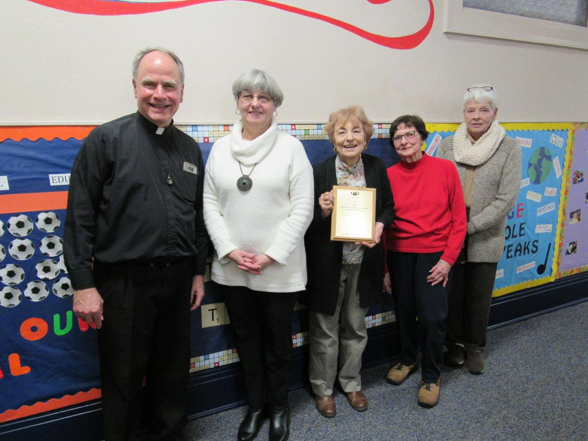 Father Fowler, Librarian and Foundation Member Cindy Zhe & Others