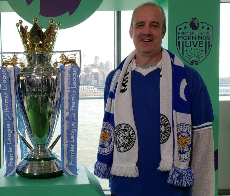 Andy with the Premier League Trophy