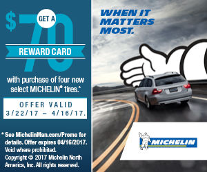 MICHELIN TIRE DEALERS TO ADVERTISE 2017 SPRING REBATE | Advertise ...