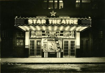Star theater in black and white