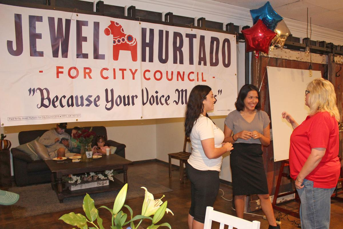 Candidates eager: Jewel Hurtado