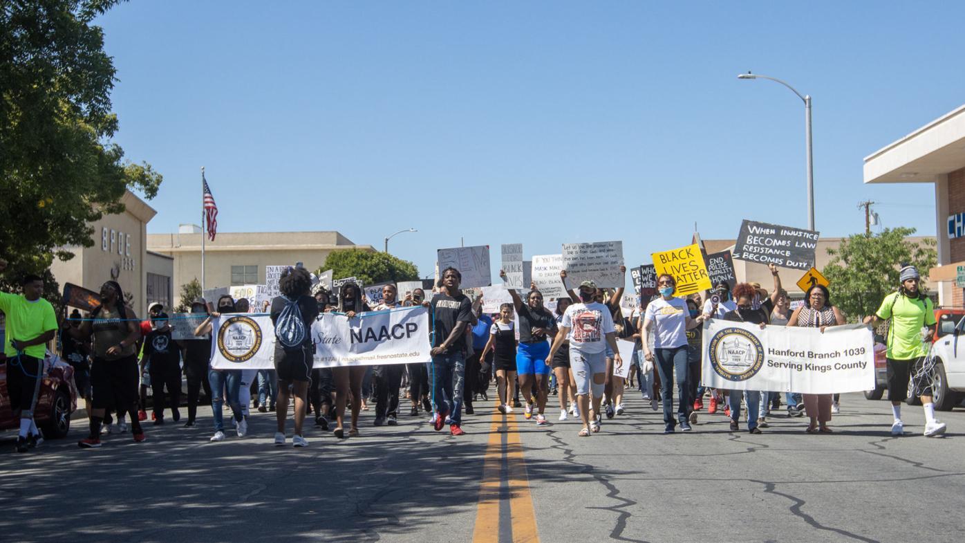 Hundreds attend Black Lives Matter protest at Hanford Civic Auditorium