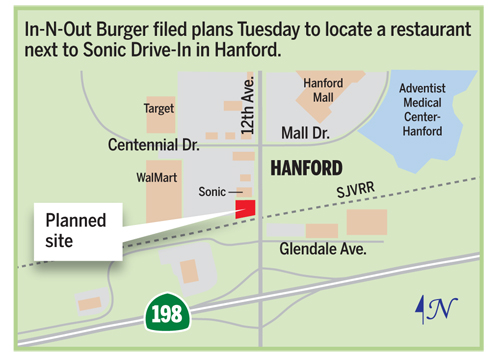 In-N-Out makes progress | Local | hanfordsentinel.com on carl's jr map, shale gas locations map, verizon map, playa d'en bossa map, in and out burger map, taco bell map, burger king map, msn map, los angeles map, jack in the box map, facebook map, in and out locations map,