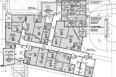 Police Station: Architect's plans