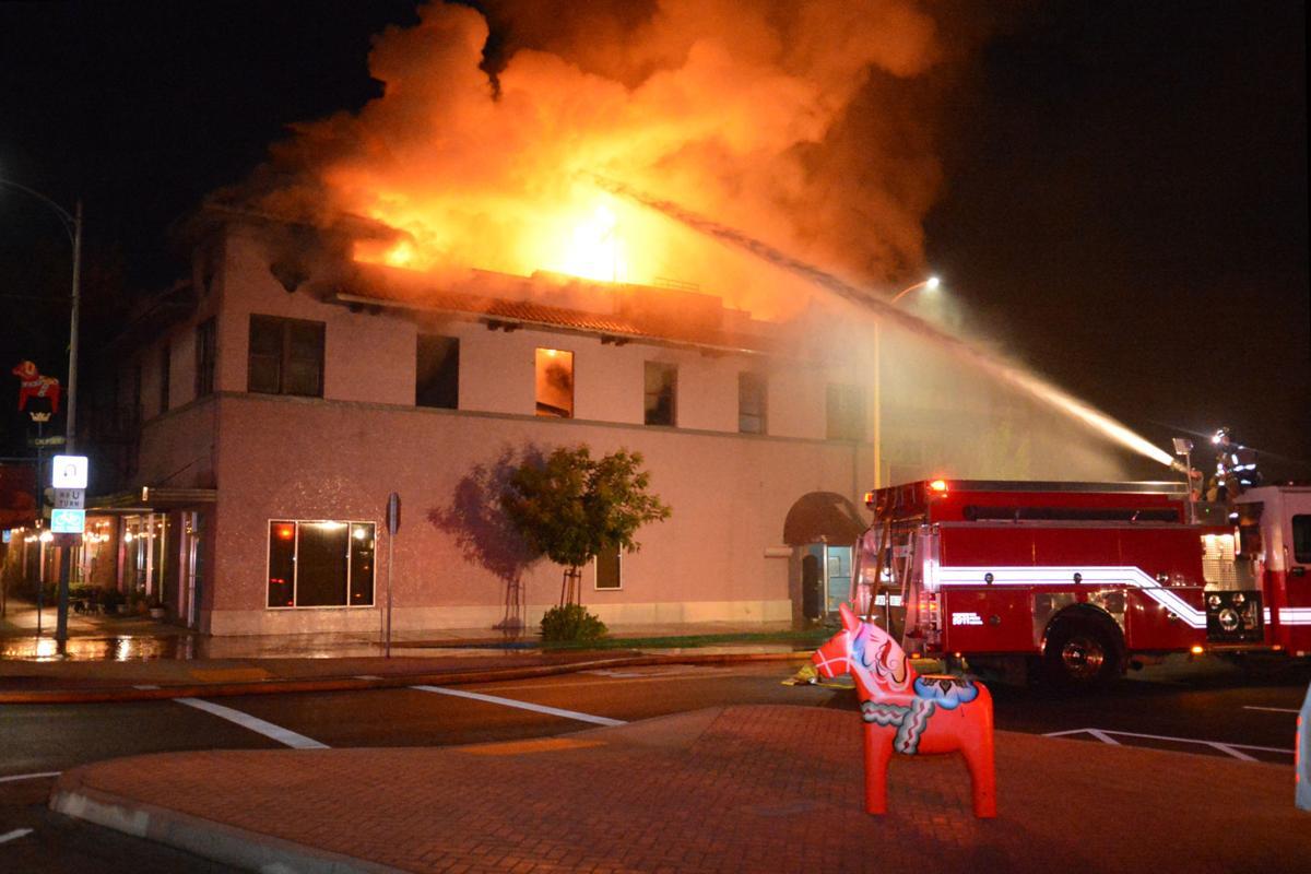 Fire Burns Kingsburg Hotel Building