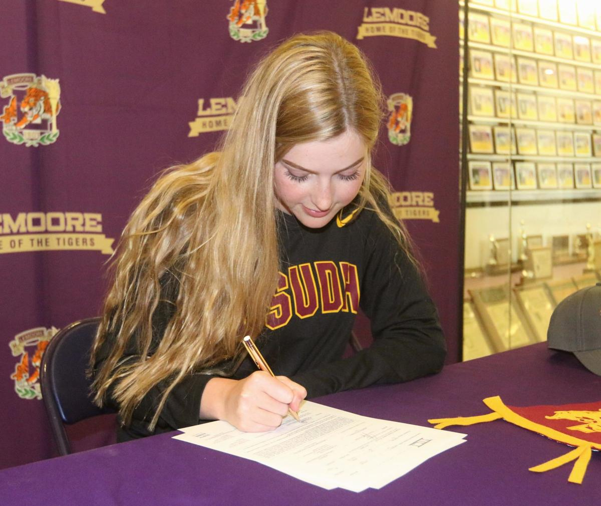 HORNS UP: Saporetti signs with Dominguez Hills