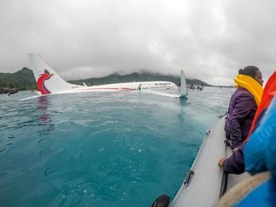 Sailors' teamwork treats critically injured plane crash survivors in Chuuk