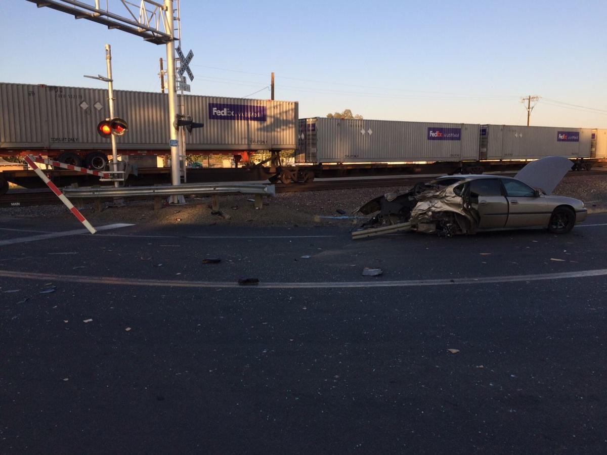 Corcoran train/car crash