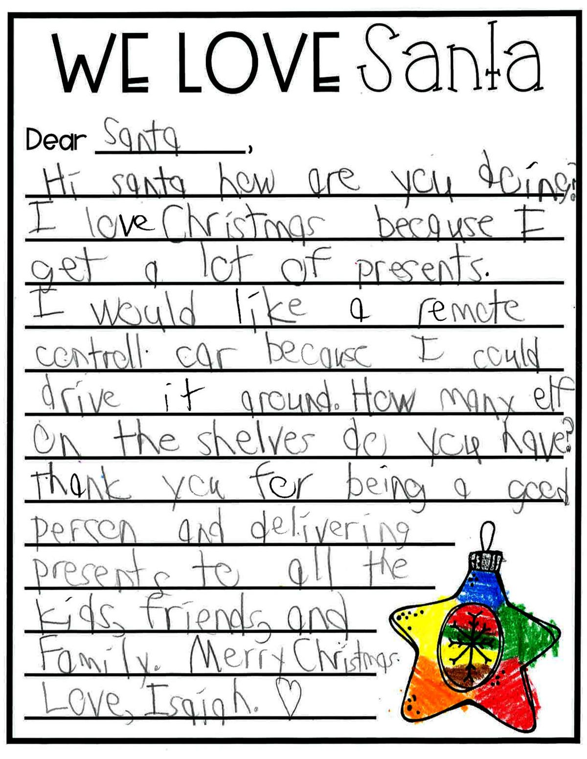 Letters to Santa: Isaiah
