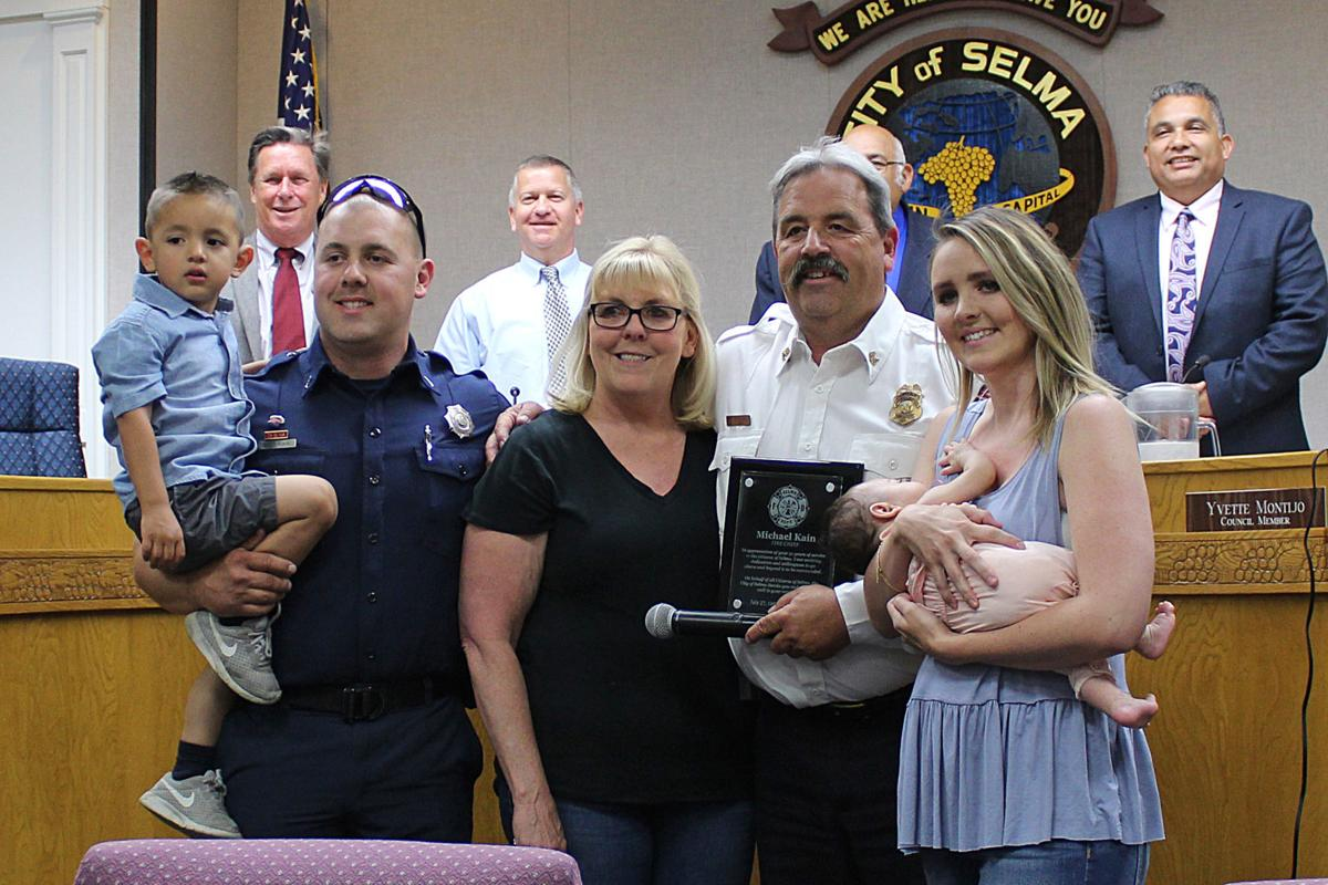 Selma Fire Chief: With family