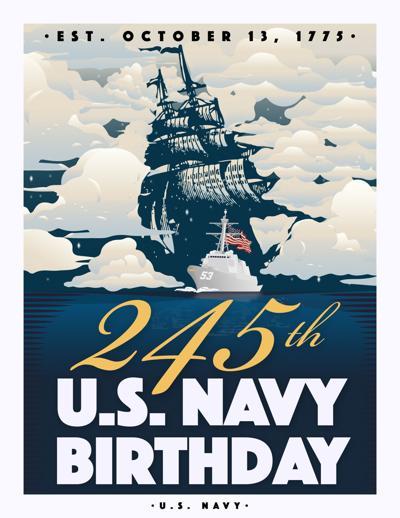Navy Birthday 2020 poster
