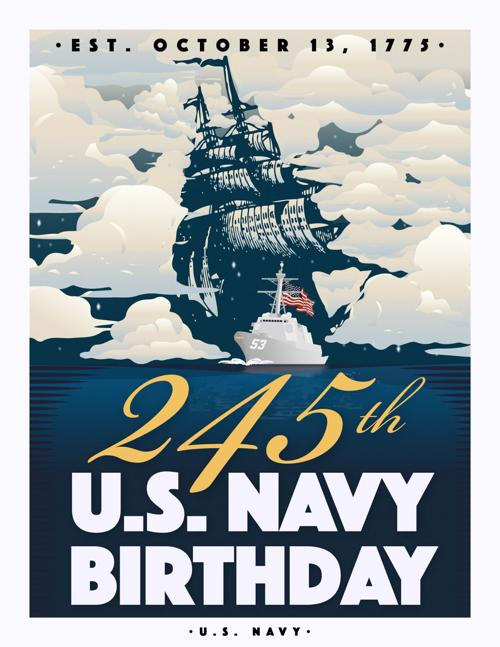 Navy Birthday 2020 poster
