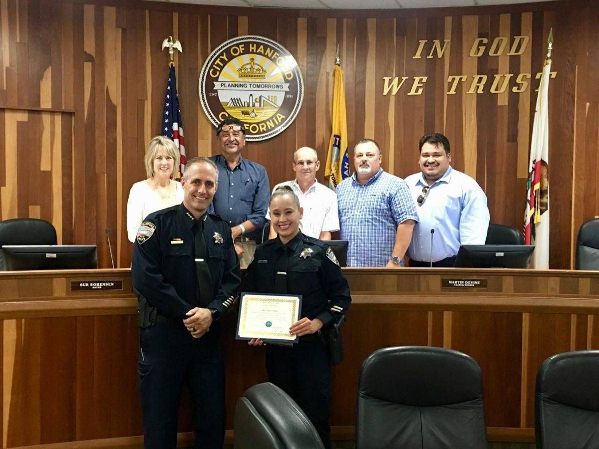 Officer Nancy Gallegos award