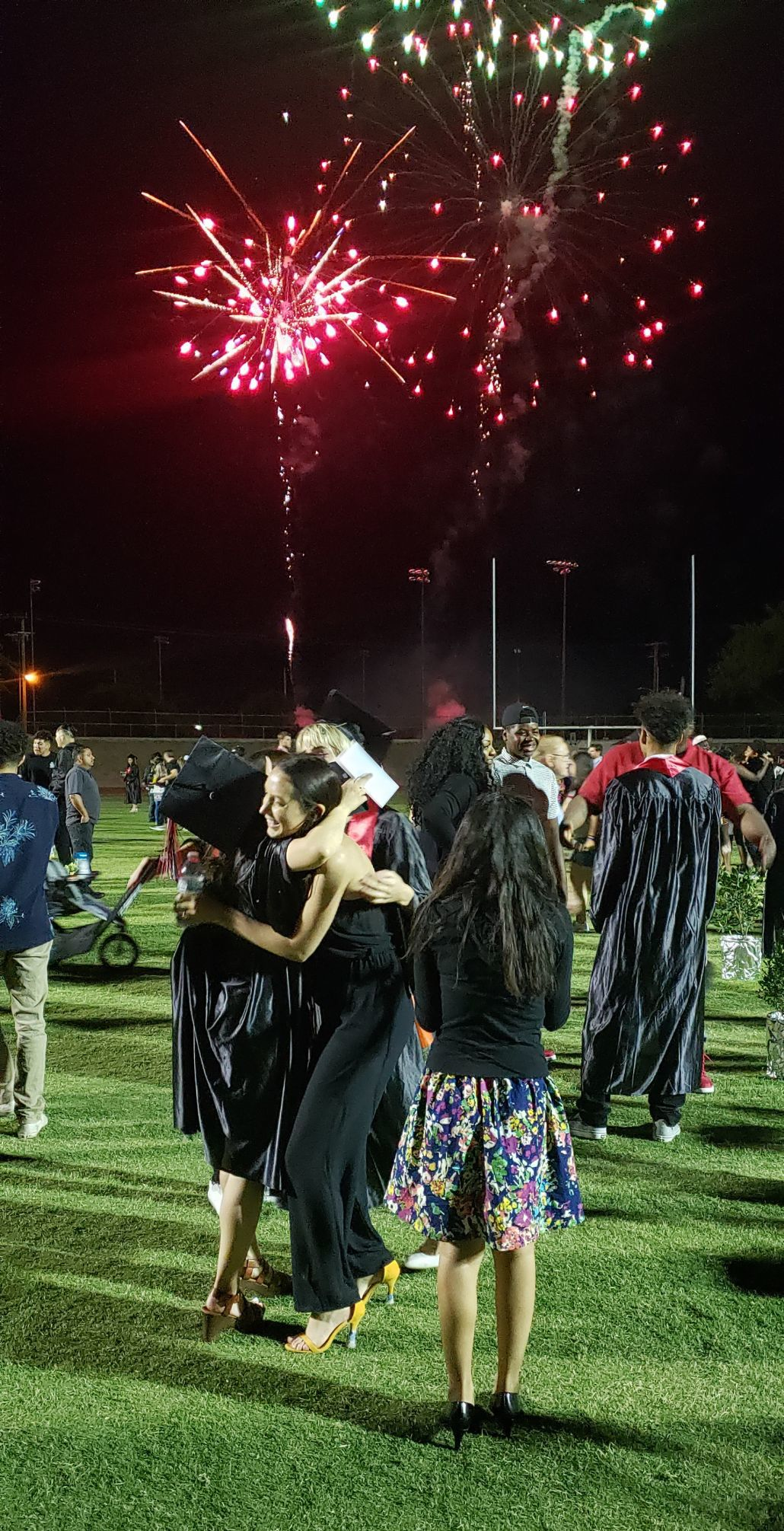 hanford high graduation 2019 fireworks