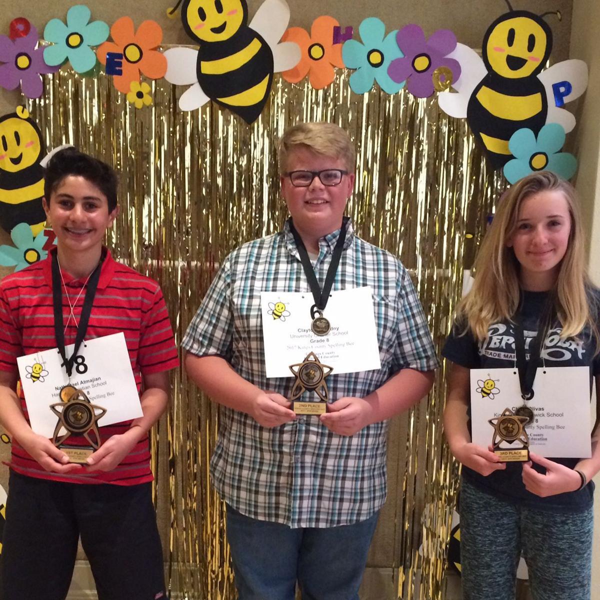 spelling bee eighth grade winners