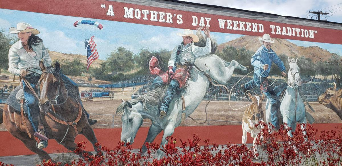 woodlake rodeo mural