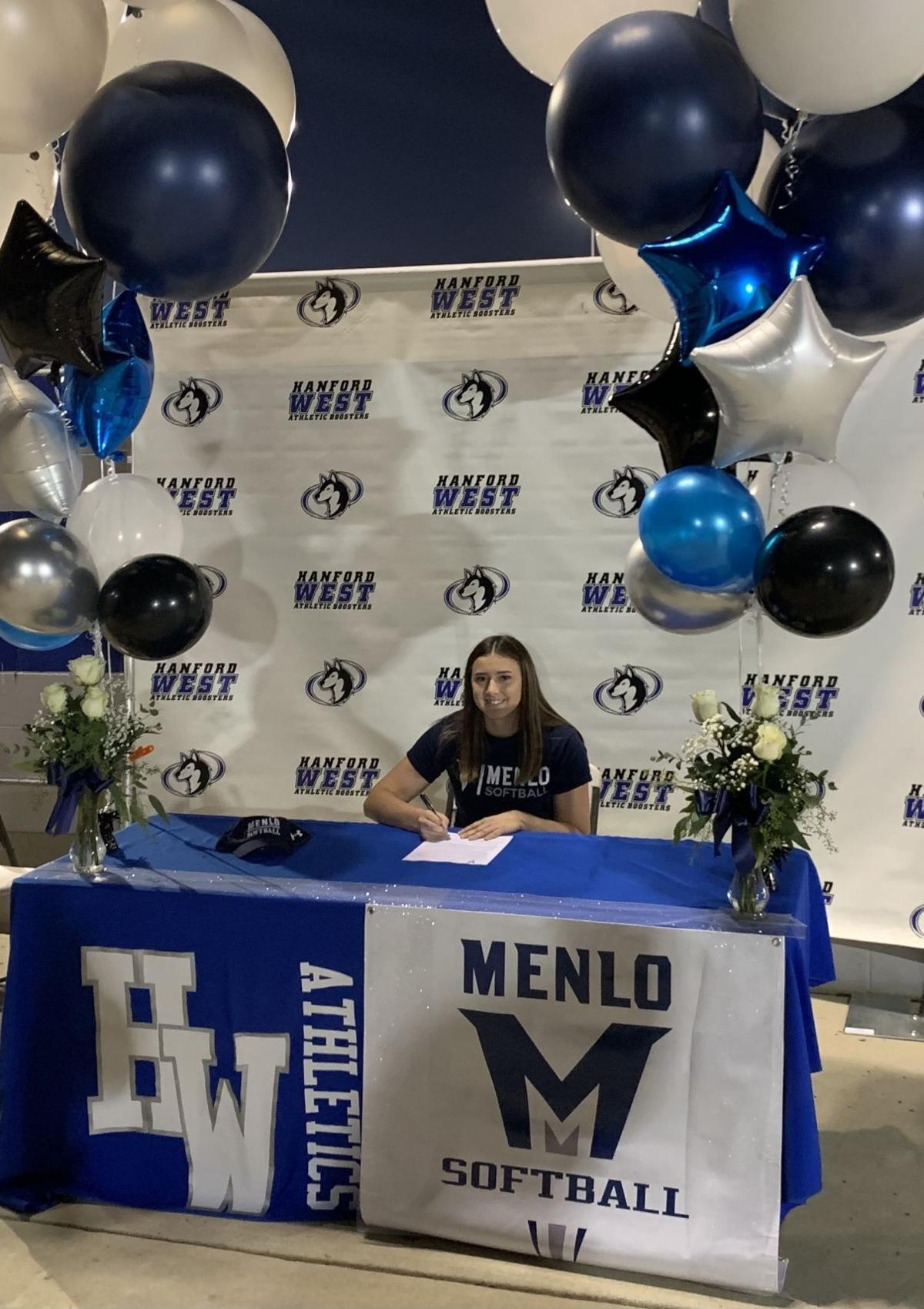 Hanford West's Macie Figueroa signs with Menlo College