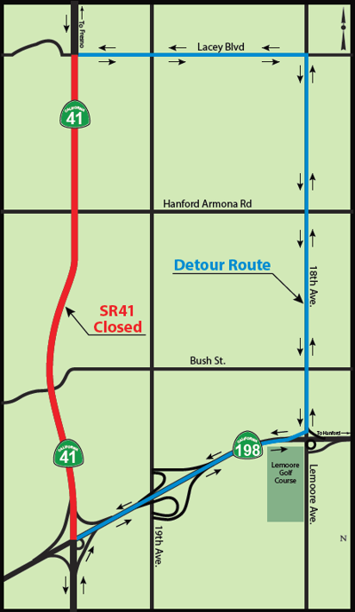 State Route 41 temporary full closure