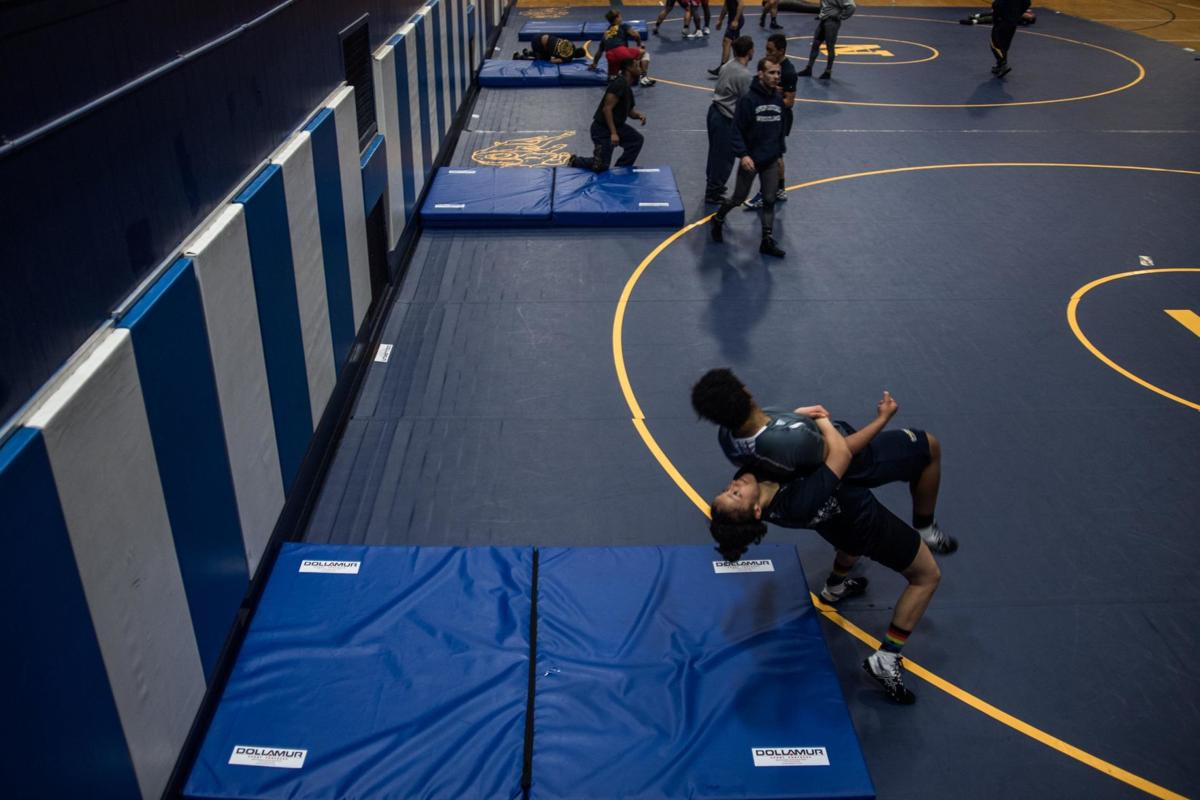 Wrestling to win gold for the Blue and Gold
